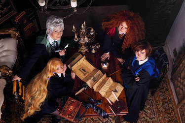 The Big Four in Hogwarts! by Zoisite-Virupaksha