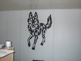 Wall painting by FROSTWOLF884