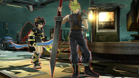 Cloud Strife and Dark Pit by user15432