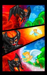 Angel VS Demon by GucalovPavel
