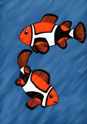 Clown fish redrawn by Jinzaki