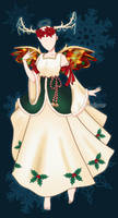 (OPEN) Adoptable Ensemble 15: Christmas Angel by Lunafleurr