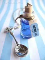A Tiny Amount Will Do... Drink Me Bottle by StrangeWonderland
