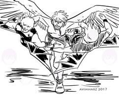 Quick Sketch: Silver fight sketch no. 4 by avimHarZ