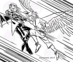 Silver Fight Sketch no. 5 by avimHarZ