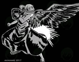 Quick Sketch: Angel fight sketch no. 5 by avimHarZ