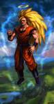 Goku Super Saiyan level 3 by theLateman