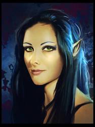 Elve portrait by theLateman