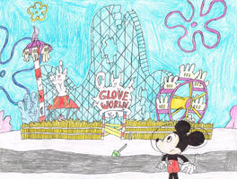 Mickey Mouse at Abandoned Glove World (Color) by thecrazyworldofjack