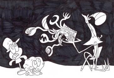 Huffingtober 13, The Triguy's Box by thecrazyworldofjack