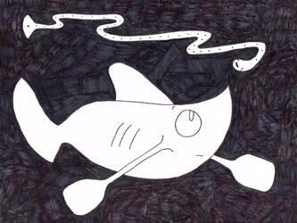 Huffingtober 18, Canoe Shark by thecrazyworldofjack