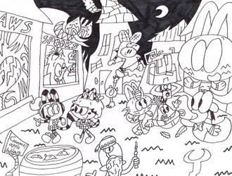 Huffingtober 31, Festival of Nightmares by thecrazyworldofjack