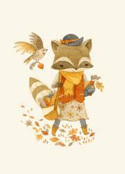 Rebecca the Radish Raccoon by teaganwhite