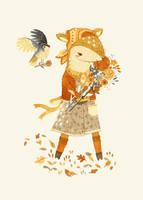 Dakota the Daisy Deer by teaganwhite