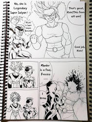 Ssgss GokuGolden Freeza vs Kale by DARK-SNAKES
