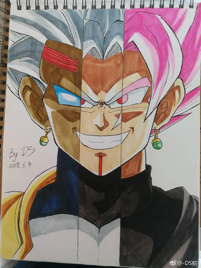 Baby Vegito Black by DARK-SNAKES