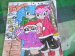 Sonic and Amy Toy star gaze by ARaeann123