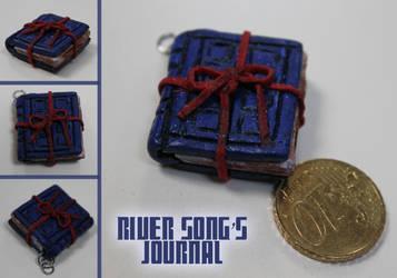 River Songs journal charm by ValerieAnna