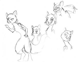 Buck and Tundra sketches by Emilou1985