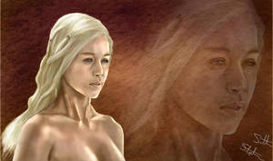 Queen Daenerys Targaryen Mother of Dragons Illust. by nsohio44890
