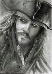 Jack Sparrow - Graphite by Diguera