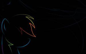 Rainbow Dash Minimal Wallpaper by Woodyz611