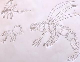 WTG Kaiju profile- Megaguirus/Meganulon/Meganula by DINOTASIA123