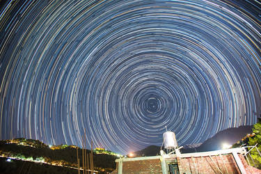 Star Trails at Dharamsala by nimitnigam