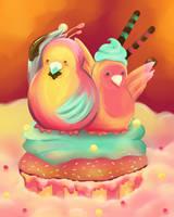 Lovebirds by shiropanda