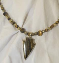 Tigerseye Arrowhead Necklace by Windthin