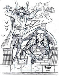 SPIDER-MAN and DOCTOR STRANGE by Wieringo