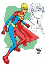 SUPERGIRL in color by Wieringo