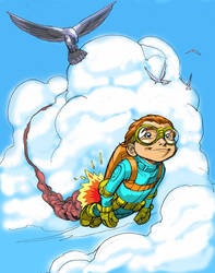 FLYBOY in color by Wieringo