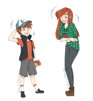 Wendy And Dipper by Autumn-ClockW0rk