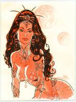 Dejah Thoris watercolor by MichaelDooney