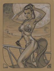 Slave Leia by MichaelDooney