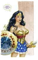Wonder Woman color by MichaelDooney