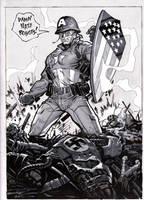 It's Captain America day 1 by MichaelDooney