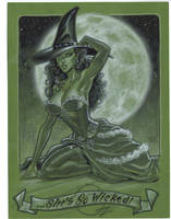 Wicked Witch OZ pin up by MichaelDooney