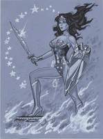 Wonder Woman blue by MichaelDooney