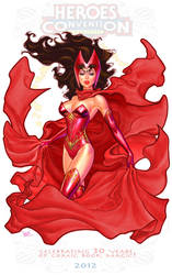 Scarlet Witch print for Heroes Con by MichaelDooney
