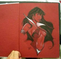 Vampy inside cover by MichaelDooney