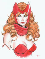 Scarlet Witch watercolor by MichaelDooney