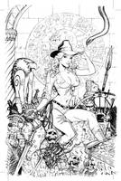 Zenescope Keres cover...Indiana Jones style by MichaelDooney