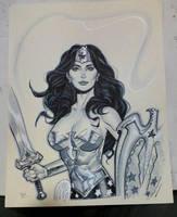Wonder Woman con sketch by MichaelDooney
