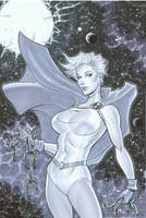 Powergirl auction art by MichaelDooney