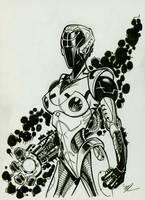 Robo girl Inktober #5 by MichaelDooney