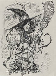 Wicked wicked witch inktober 2017 #14 by MichaelDooney