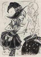 Witchy...it's Inkvember! by MichaelDooney