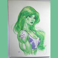 She hulk watercolor by MichaelDooney